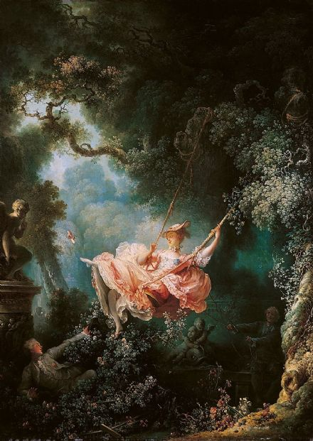 Fragonard, Jean-Honore: The Swing. Fine Art Print/Poster. Sizes: A4/A3/A2/A1 (00472)
